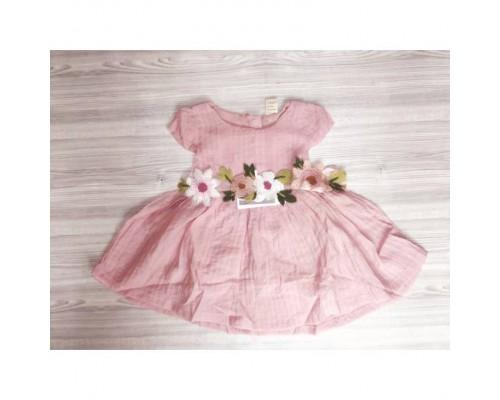 Сукня дитяча літня рожева з квіточками 7879