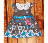 Сукня дитяча літня з блакитним 7841