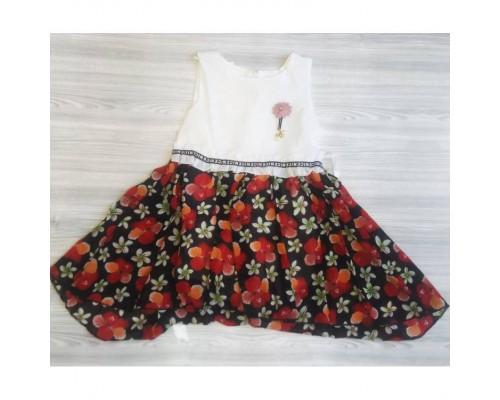 Сукня дитяча літня з червоними квіточками