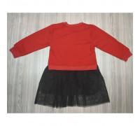 Сукня дитяча з лебедем червоний верх