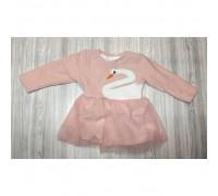 Сукня дитяча з лебедем рожева