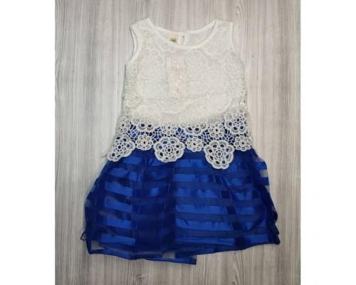 Сукня дитяча з мережива синя