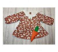 Сукня дитяча з морквою коричнева