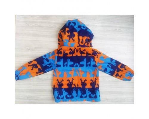 Вітровка для хлопчиків синьо-оранжева