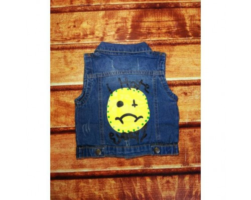 Желетка дитяча джинсовий синя 8056