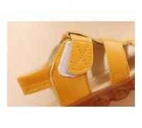 Босоніжки дитячі LED еко-шкіра жовті