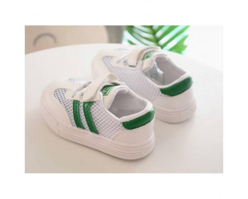 Кеди літні дихаюча сітка BXWA з зеленими смужками