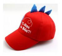 Кепка для хлопчика Dino червона 3159