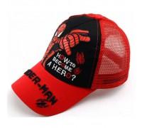 Кепка Spider-man червона+чорна сітка 4166