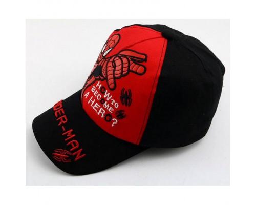 Кепка Spider-man чорна+червона 4164