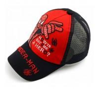 Кепка Spider-man чорна+червона сітка 4170