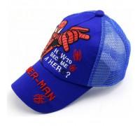Кепка Spider-man синя сітка 4169