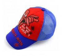 Кепка Spider-man синя+червона сітка 4168