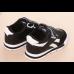 Кросівки дитячі еко-шкіра на липучках чорні
