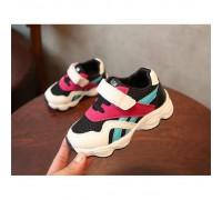 Кросівки дитячі NO.1 з бордово-бірюзовими смужками