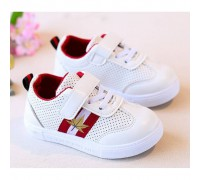 Кросівки дитячі PU-шкіра дихаючі з червоними смужками