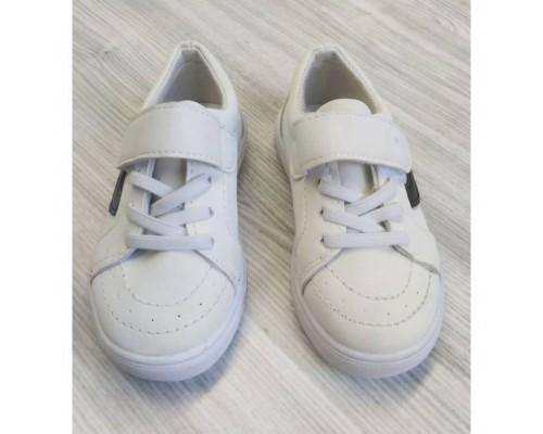 Кросівки дитячі PU-замша на липучках білі