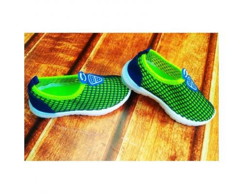 Кросівки дитячі сіточка синьо-зелені