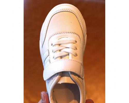 Кросовки дитячі PU-шкіра білі