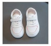 Кросовки дитячі Zhejiang PU-шкіра білі з рожевими вставками