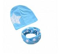 Набор шапка+хомут Star блакитний 3455