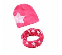 Набор шапка+хомут Star малиновий 3440