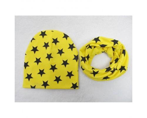 Набор шапка+хомут Star жовтий 3456