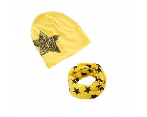 Набор шапка+хомут Star жовтий 3457