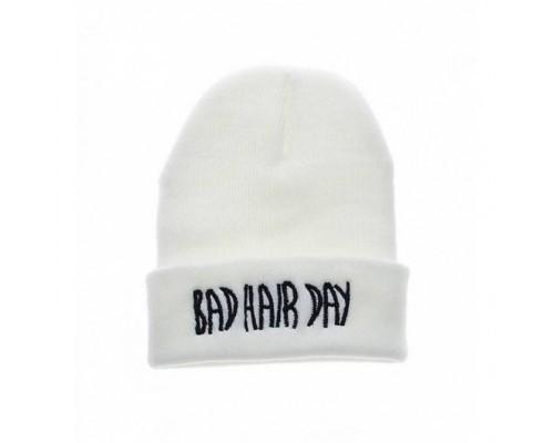 Шапка Bad hair day біла 3778