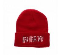 Шапка Bad hair day червона 3776