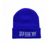 Шапка Bad hair day синя 3777