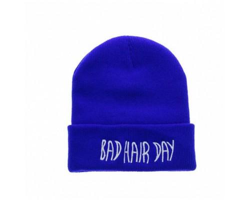 Шапка Bad hair day синя 3777