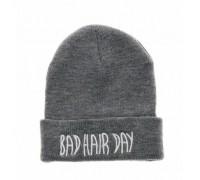 Шапка Bad hair day сіра 3774