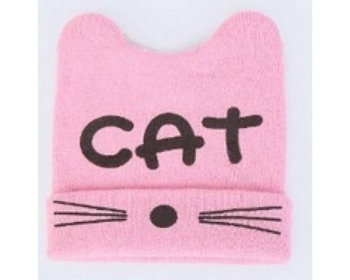Шапка дитяча весна-осінь CAT рожева