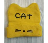 Шапка дитяча весна-осінь CAT жовта