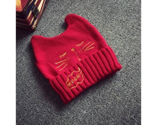 Шапка Meaw червона 3500