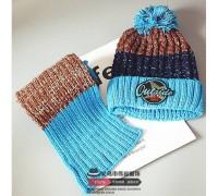 Шапка + шарф зимові Outside блакитні