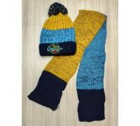 Шапка + шарф зимові Outside темно-сині