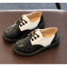 Лаковані туфлі дитячі Bobozi чорні з білим