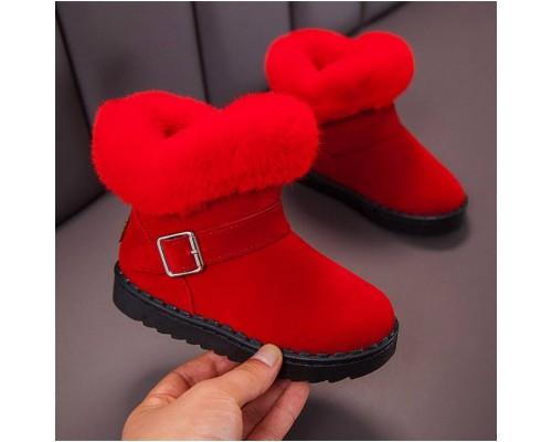 Черевички для дівчаток зимові X&K червоні