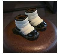 Черевики дитячі зимові з хутром PU-шкіра білі