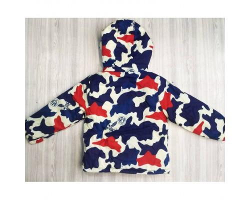 Демісезонна курточка хлопчикові Камуфляж червона 3583