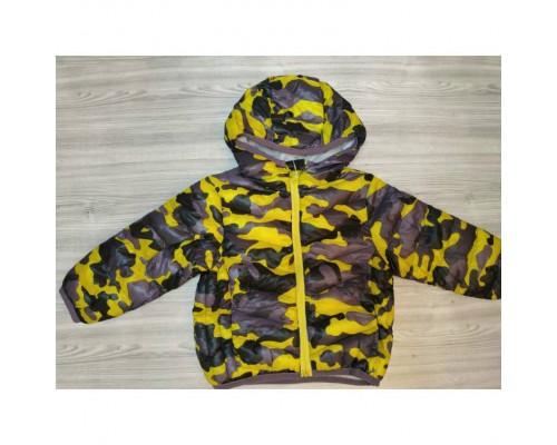Демісезонна курточка хлопчикові Камуфляж жовта 3544