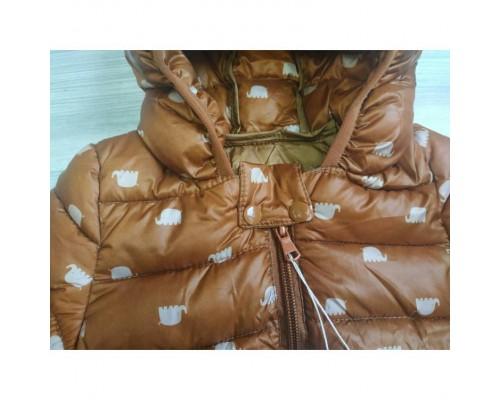 Демісезонна курточка хлопчикові коричнева 3540