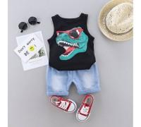 Костюм літній для хлопчика чорний Dino 4184