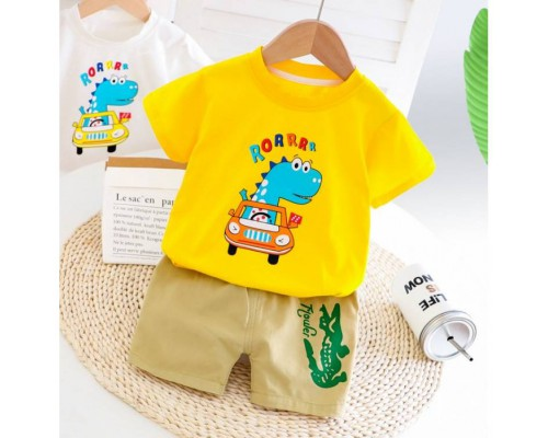 Костюм на літо хлопчику Rorrrr жовтий 4199
