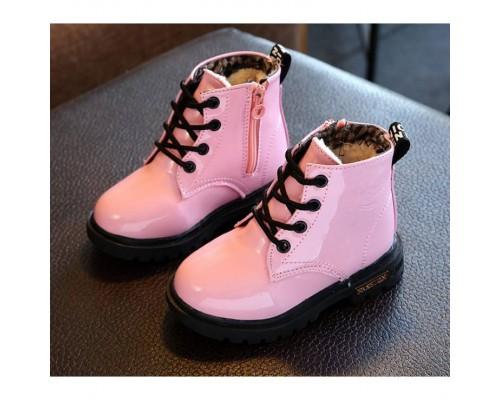 Лаковані черевики з хутром Dinimigi 20366
