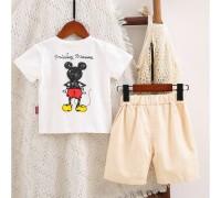 Літній костюм для хлопчика Mickey білий 4043