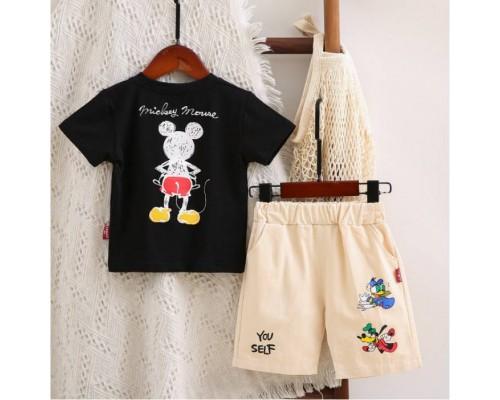 Літній костюм для хлопчика Mickey чорний 4042