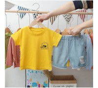 Літній костюм для хлопчика Street жовтий 3999